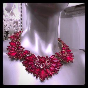 Floral cluster necklace